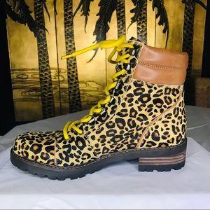 NWOB Sam Edelman Tamia Leopard CalfHair CombatBoot